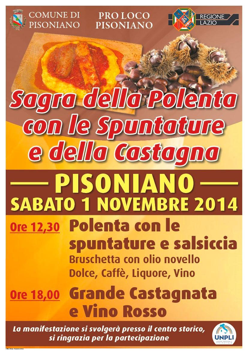 1° Novembre 2014 - SAGRA DELLA POLENTA